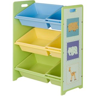 @Overstock.com - Toy Storage Unit with Six Tubs - Help your child easily  sc 1 st  Pinterest & Overstock.com - Toy Storage Unit with Six Tubs - Help your child ...