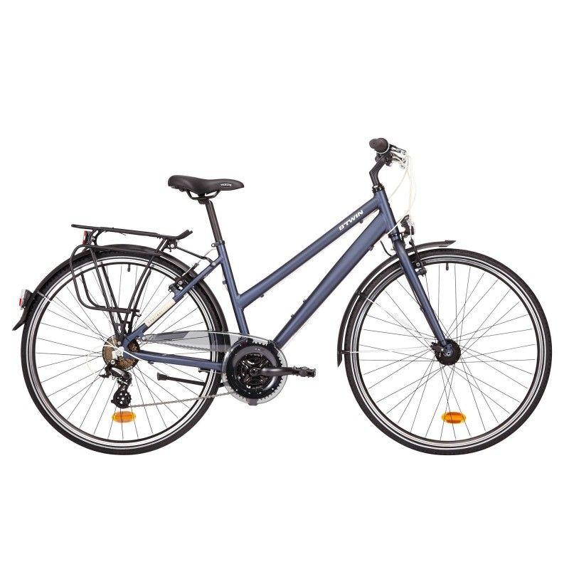Trekkingrad 28 Zoll Hoprider 100 Damen Blau Rad Fahrrad Zoll