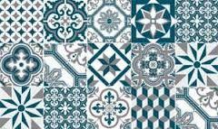 Resultat De Recherche D Images Pour Carreau De Ciment Bleu Canard
