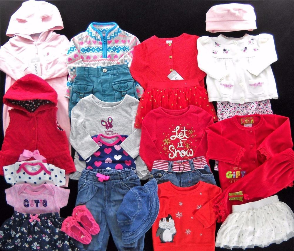 Baby Girl 6 6 Amp X2f 9 12 Months Fall Winter Clothes Outfits Lot Up For Sale Is This Adorable 24 Piece Lot Of Girls Girl Outfits Rompers For Kids Baby Girl
