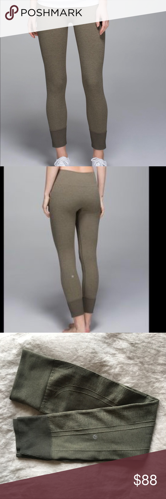 4f72972579c7ff Lululemon ebb to street pant size 4 in olive NWOT - brand new never been  worn