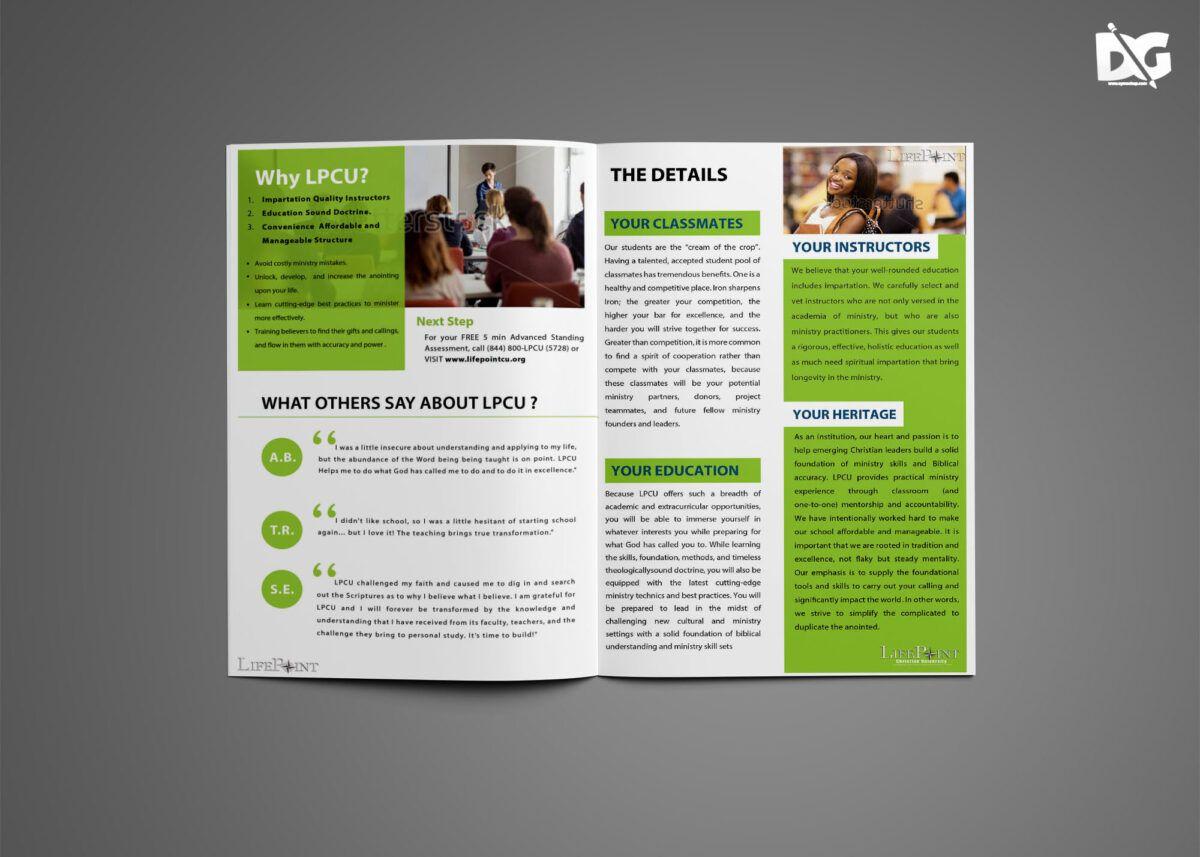 Graduation Bi Fold Brochure Design Template 99effects Throughout 4 Fold Brochure Template Wo Free Brochure Template Bi Fold Brochure Brochure Design Template