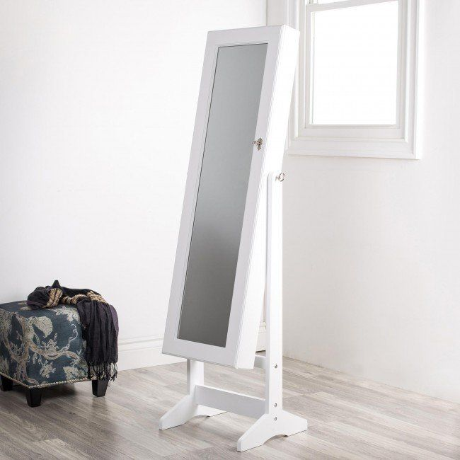 All Your Jewellery And See How Great You Look Wearing It With Our Sophia Floor Mirror Cabinet This Full Length Opens To Reveal