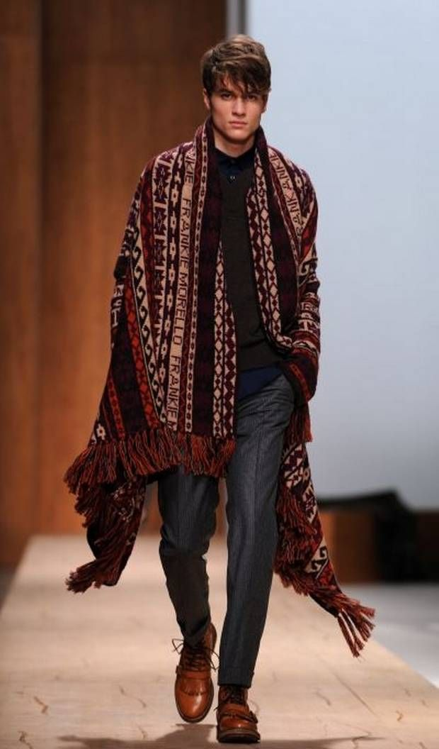 Men won't escape the cape this fall | Man style, Fashion ...