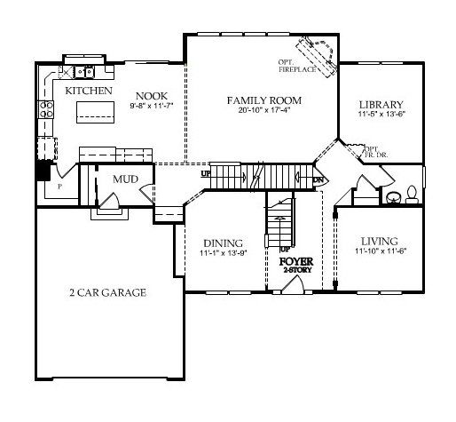 Floor Plan Belmont New Home In Westminister Pulte