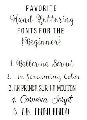 Favorite HAND LETTERING Fonts For The BEGINNER
