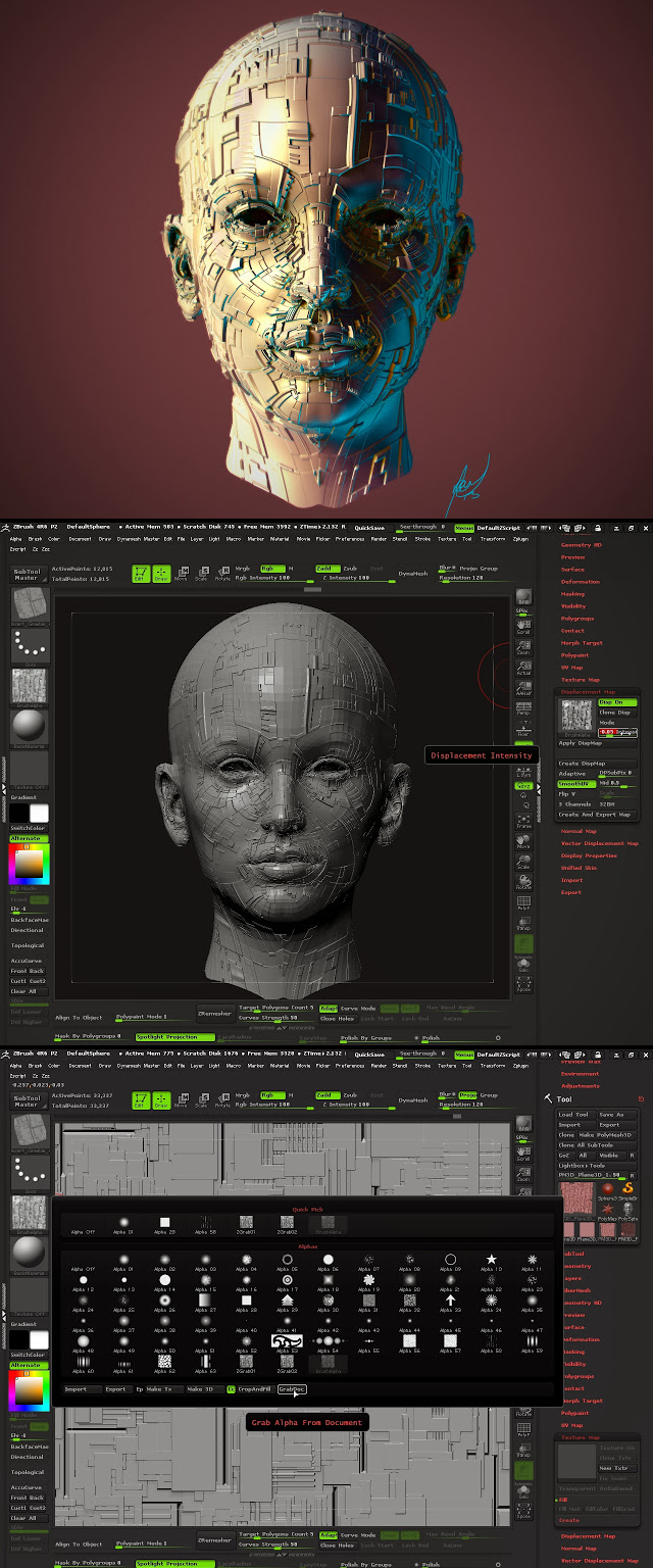 Creating Details Hard-Surface with Displacement Maps in ZBrush 4R6