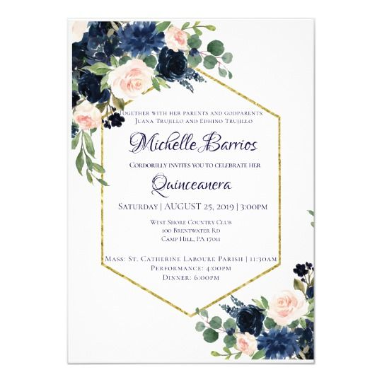 Love Bloom Elegant Red Floral Gold Frame Wedding Invitation