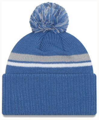 d1972fd1 New Era Detroit Lions Diamond Stacker Knit Hat - Blue Adjustable ...