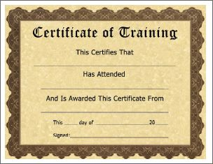 Training certificate templates for word using a training training certificate templates for word using a training certificate template yelopaper Images