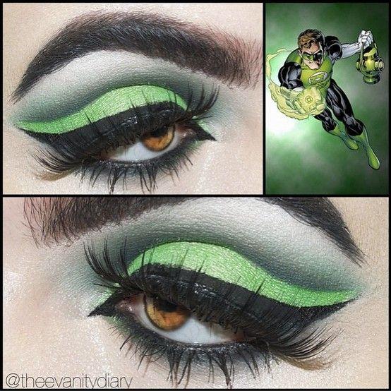 BEAUTY  MAKEUP - Geek - Beautiful Green Lantern inspired look by Theevanitydiary using Sugarpill Absinthe eyeshadow and Flutter false eyelashes!