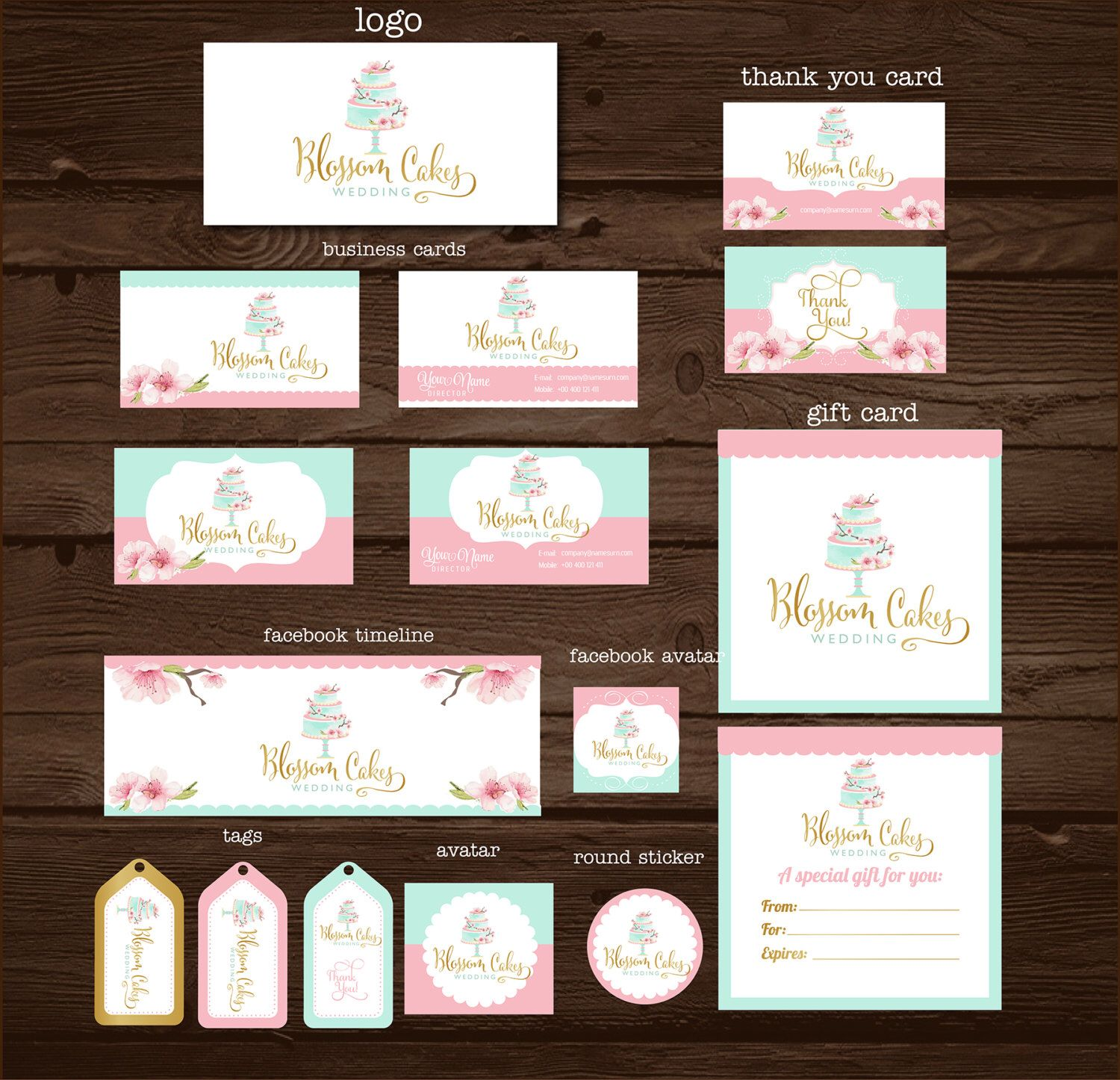 Pin by amir hossein m nejad on cake business cards pinterest cherry blossom cake cherry blossoms hand drawn logo cake logo cake business business cards card tags gift cards watercolor wedding reheart Choice Image