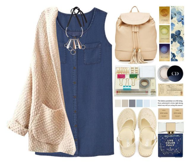 """""""Late summer evenings"""" by jan31 ❤ liked on Polyvore featuring MANGO, WithChic, See by Chloé, Kate Spade, Leftbank Art, Christian Dior, Art Classics, Byredo, Amara and Marni"""