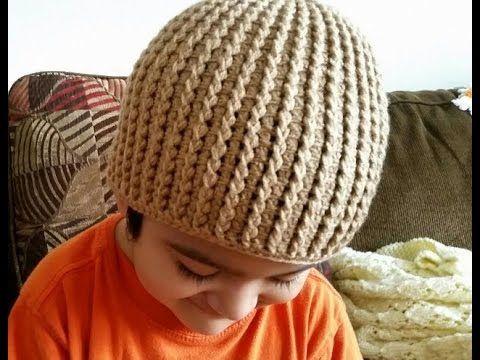 b9009803705 Como tejer gorro en crochet para niños - YouTube