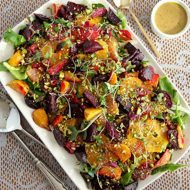 Roasted Beet and Citrus Salad with Mustard Vinaigrette