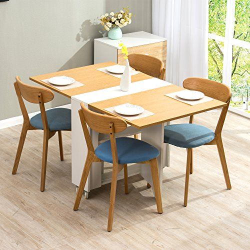 58340b111199a CTF HAGEN Folding Expandable Gateleg Dining Table 2-4 Seater in Oak &  White---82.99---