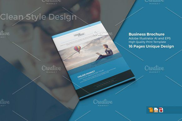 Corporate Business Brochure by Cristal Pioneer on @creativemarket