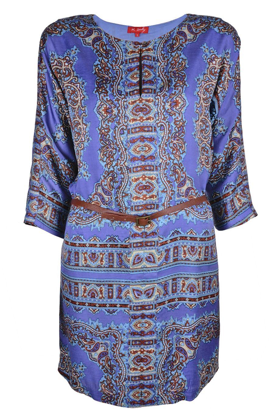RENÉ DERHY  AGRAIRE Printed Viscose Dress