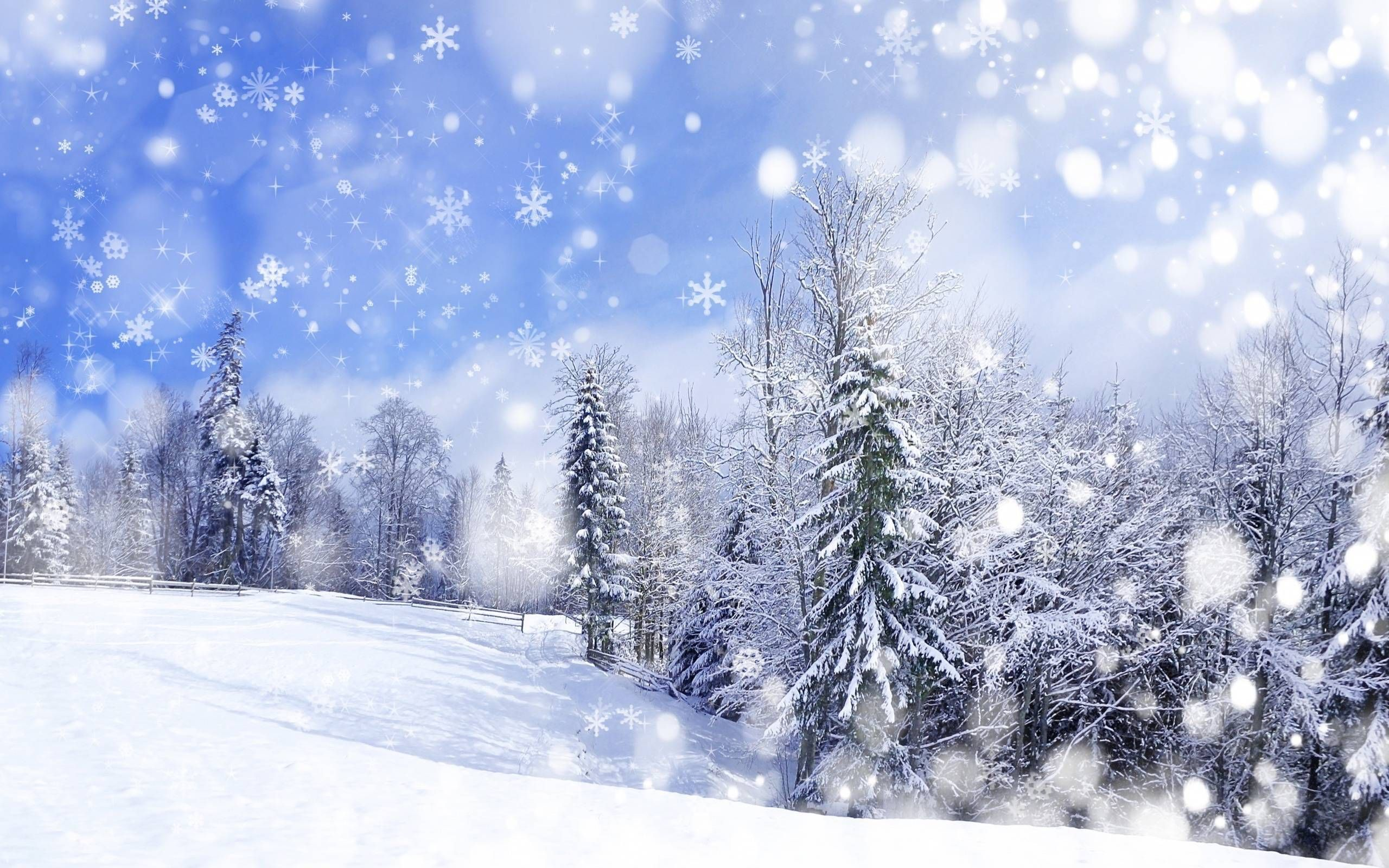 Anime Winter Scenery Wallpaper1 Winter scenery, Scenery