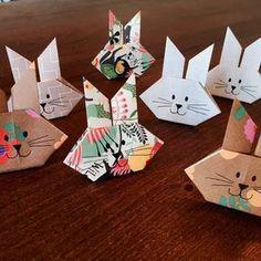 oster origami bunny hasen einfach falten basteln papier pinterest origami hase und einfach. Black Bedroom Furniture Sets. Home Design Ideas