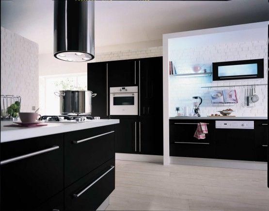 Cuisine Hygena : Blanc et noir | Cuisines noires | Pinterest ...