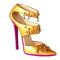 Miniture Shoe - Golden Girl
