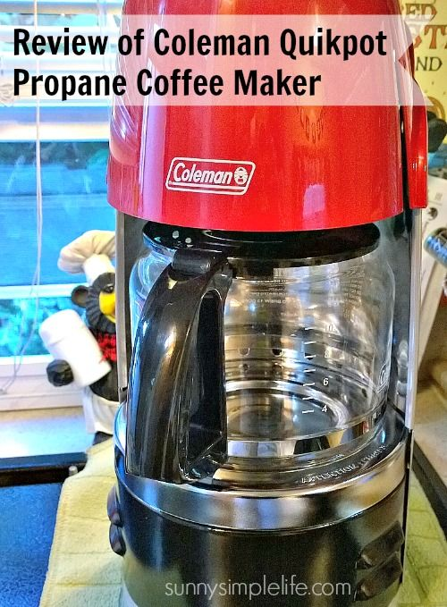 Review Of Coleman Propane Coffee Maker Sunnysimplelifecom