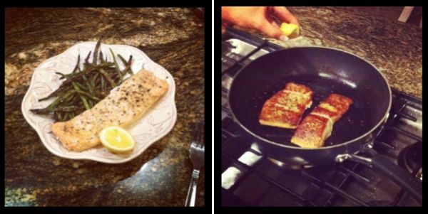 Quick, easy lemon pepper salmon using fresh lemon and spices- do it in the oven wrapped in foil or over the stove.