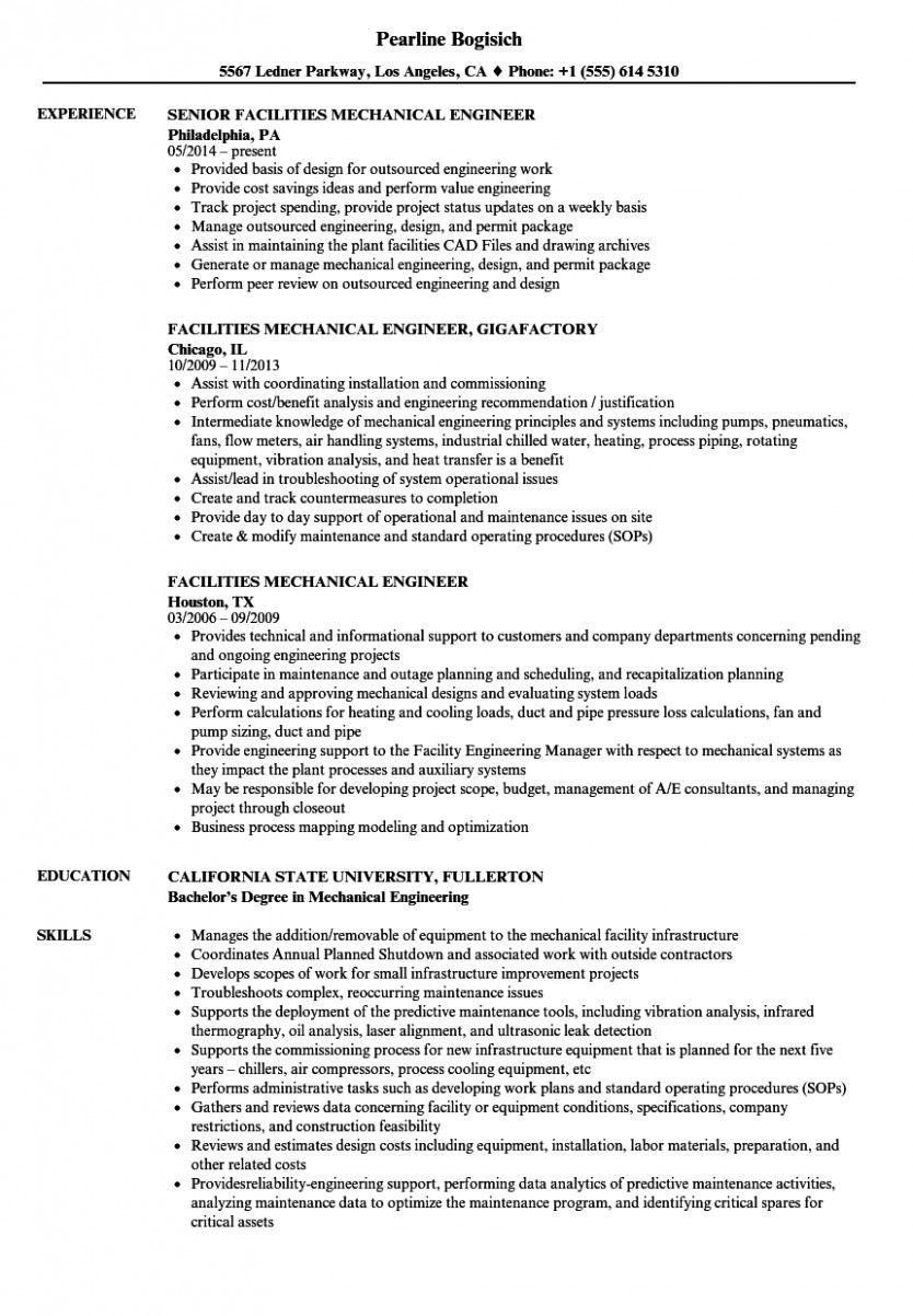 11 Technical Expertise For Mechanical Engineer Resume in