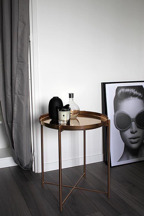 Ikea Hack Gladom Table Diy Table Basse Gueridon Cuivree Mebel Interer Dekor