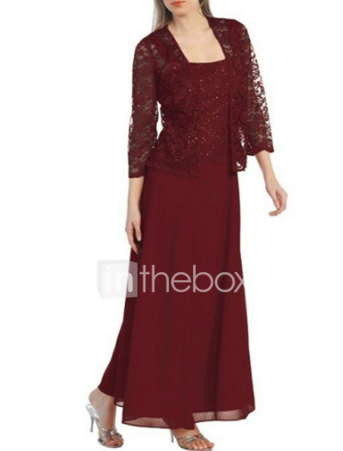 Women S Mother Of The Bride Dress 2020 Maxi Plus Size Wine Red Dress Basic Spring Summer Sheath Two Piece Solid Colored Strap Lace S M Slim 2020 Us 31 49 In