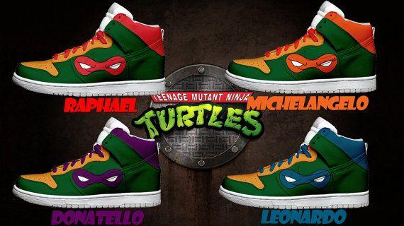 Custom Shoes ToddlerKids Teenage Mutant Ninja Turtle Shoes