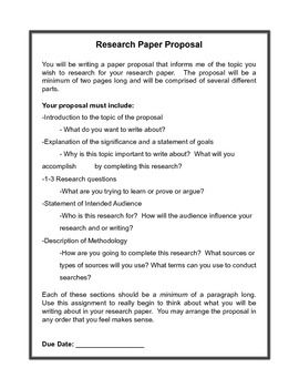 research paper proposal assignment sheet and grading rubric mla  this is an assignment sheet for a research paper proposal it requires  students to explain what they plan on researching who their audience is