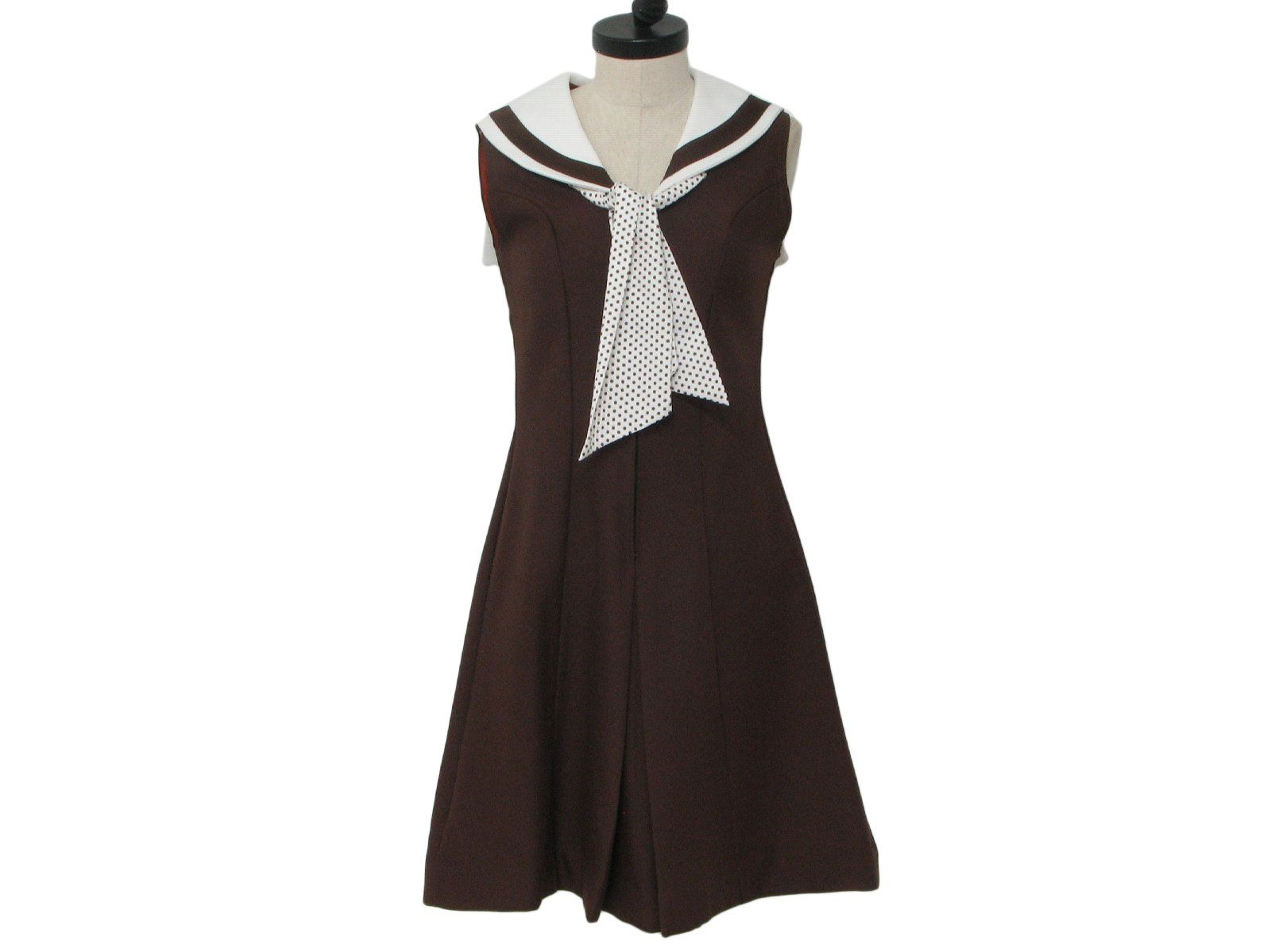 S by plaza south womens dark brown and white polyester twill