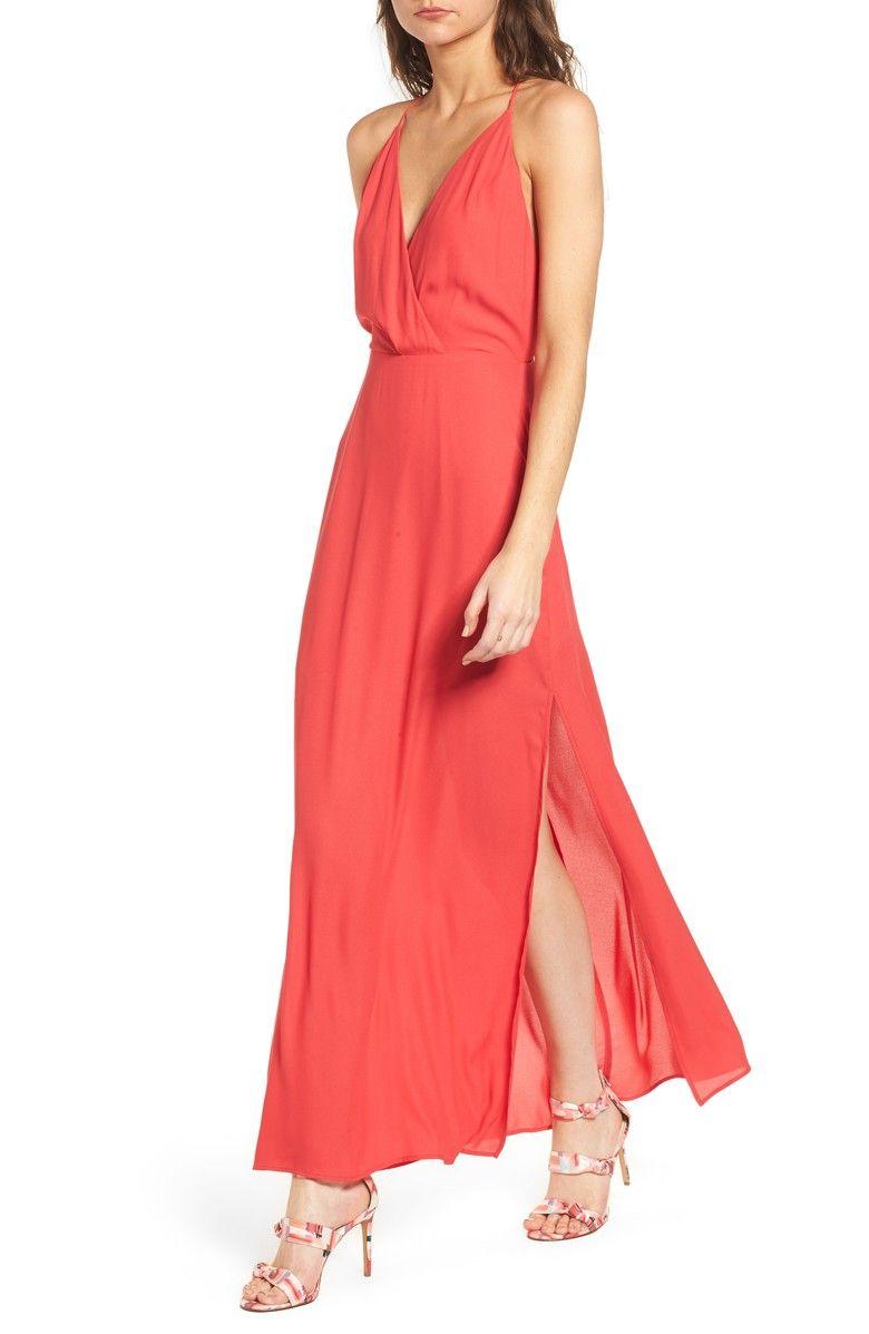 Surplice Maxi Dress Nordstrom Maxi Dress Dresses Spring Cocktail Dress [ 1197 x 780 Pixel ]