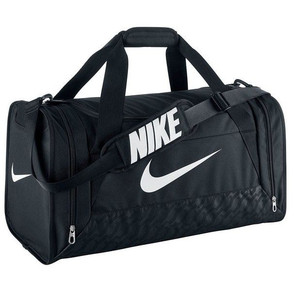 Nike Brasilia Duffel Bag ($40) found on Polyvore featuring bags, luggage, sportswear and black