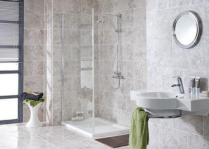 Tiled Walls Travertine Shower Bathroom Flooring Bathroom Floor Tiles