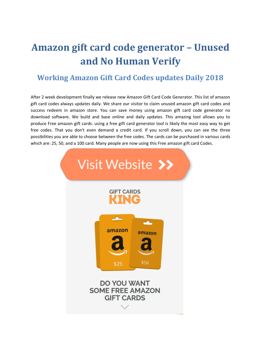 Pdf Finally Released Online Working Amazon Gift Card Code Free