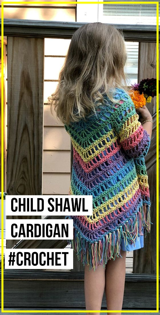 crochet Child Shawl Cardigan free pattern