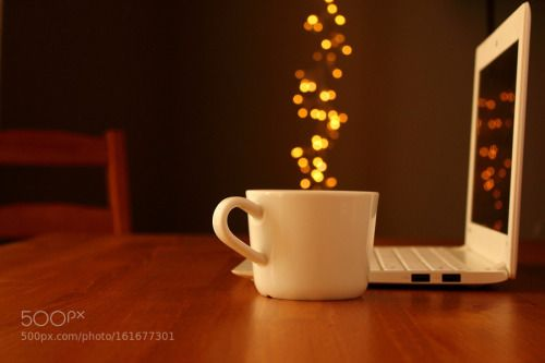 Coffee and laptop by wael17  IFTTT 500px