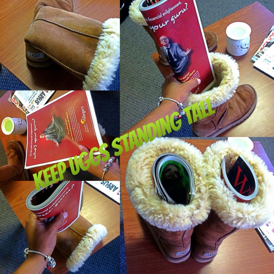 cd893b1dd6b DIY KEEP YOUR UGGS FROM SLOUCHING OVER! I literally just came up ...