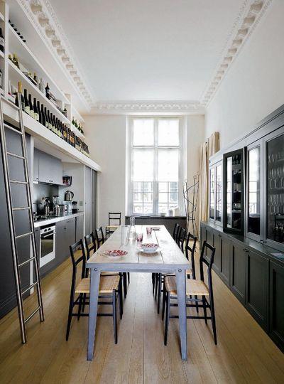 Renovation D Un Appartement Parisien Par Des Architectes Appartement Parisien Cuisine Salle A Manger Renovation Appartement