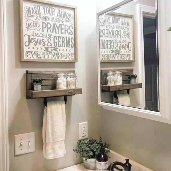 Photo of $79.99 – $104.99Small Hand Towel Holder, Towel Rack, Bathroom Decor, Towel Rack, Farmhouse Bathroom,