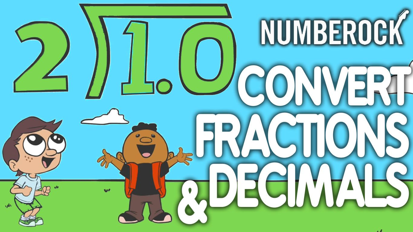 Converting Fractions To Decimals Song 5th