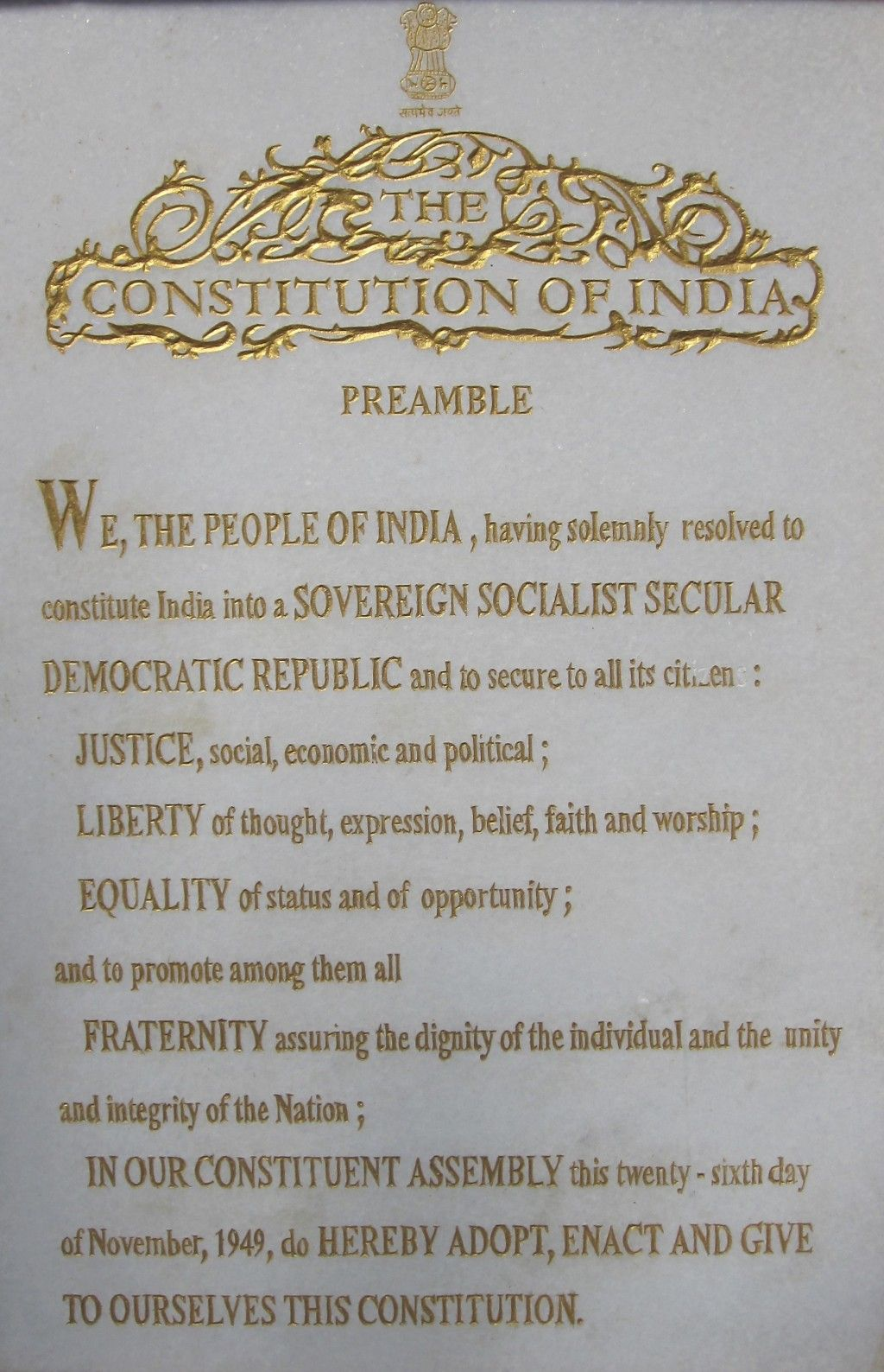 The Constitution Of India Poem Day Indian Discus Preamble