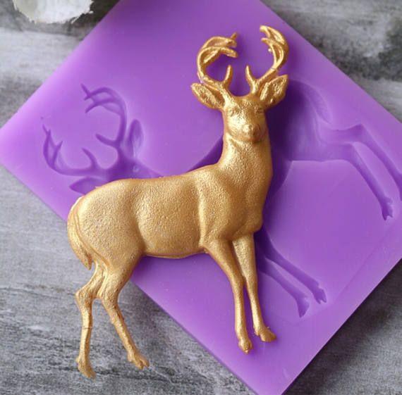Cake Decorating Chocolate Baking Mold Sleeping Deer Silicone Fondant Sugarcraft
