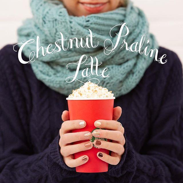 Welcome back, #ChestnutPralineLatte, You've been missed. #SeasonalSips