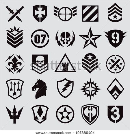 Vector Download » Military symbol icons