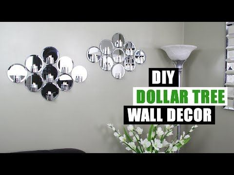 DIY DOLLAR TREE MIRROR WALL DECOR Dollar Store DIY Glam Mirror ...