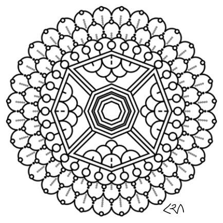 Intricate Mandala Coloring Pages Flower Henna Book Kids Doodle
